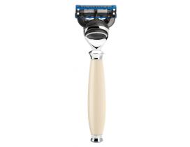 Maquinilla de afeitar Mühle PURIST resina imitación marfil