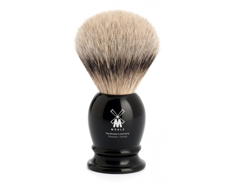 Brocha-afeitar-tejón-Mühle-resina-negra