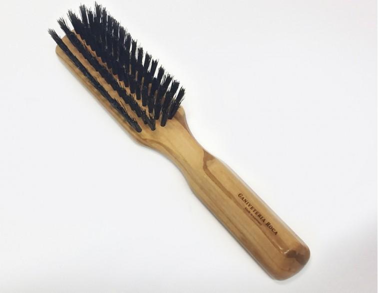Cepillo para cabello Roca cerda de jabalí y mango de olivo