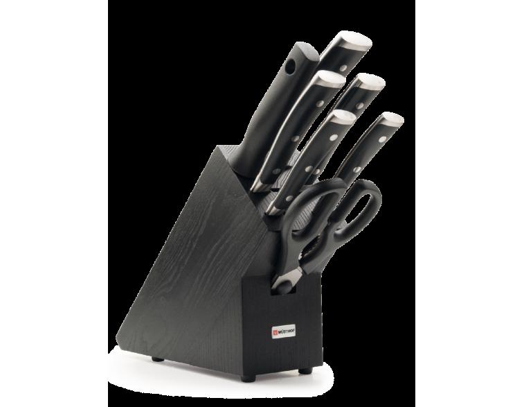 Taco-juego-cuchillos-cocina-Wüsthof-Classic-Ikon-7-piezas