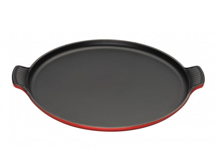 Parrilla-grill-redonda-lisa-XL-Le Creuset-hierro-cereza