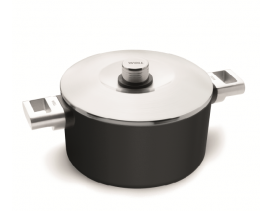 NUEVA SERIE WÖLL: Olla Diamond XR Logic 24 cm con tapa para inducción, fuego y vitro