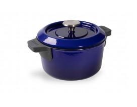 Olla-Wöl-Iron-20-cm-azul-cobalto