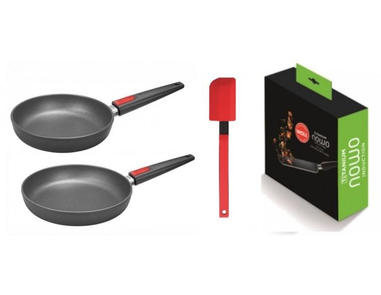 Oferta-Pack-Sartenes-Wöll-Nowo-Induction-Line 24-28-cm-inducción-fuego-vitro