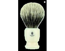 Brocha de afeitar Vielong Tejón blanco mango blanco 16728