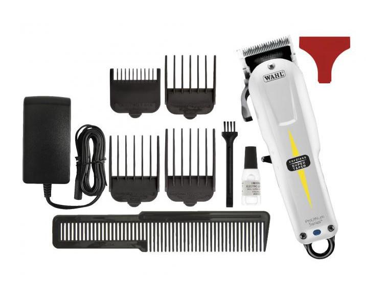 Máquina de cortar el pelo Wahl Super Taper blanca Cord/Cordless