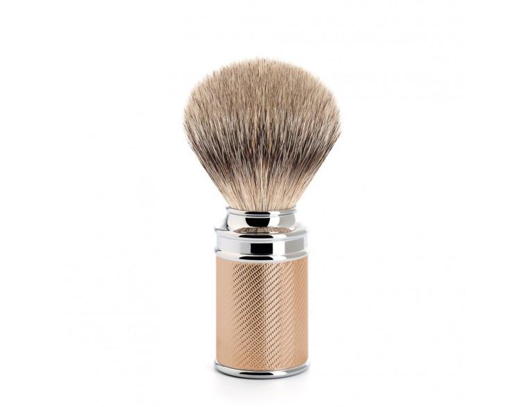 Brocha de afeitar tejón Mühle Tradicional TPP cromado oro rosado