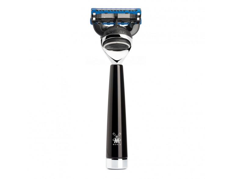 Maquinilla de afeitar Mühle Liscio F resina negra