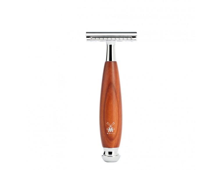 Maquinilla de afeitar clásica Mühler Vivo madera ciruelo