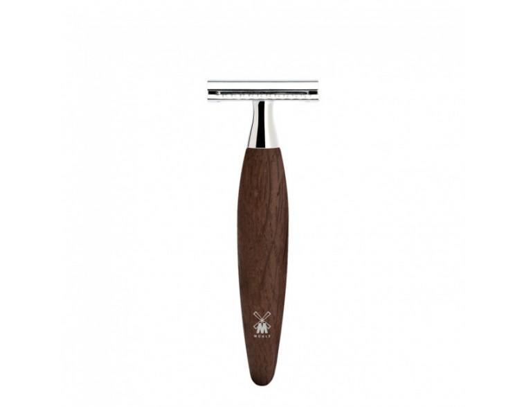 Maquinilla de afeitar clásica Mühle Kosmo madera roble fosilizada