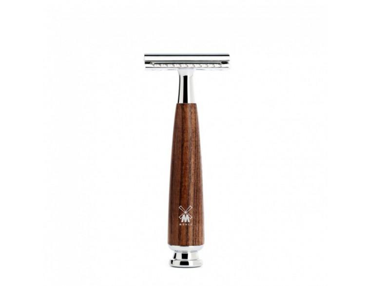Maquinilla afeitar clásica Mühle Rytmo fresno vaporizado