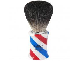 Brocha afeitar Omega tejón oscuro mango barbería