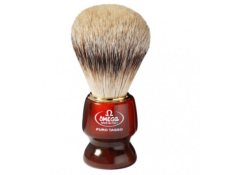 Brocha afeitar Omega tejón 1ª mango imitación carey