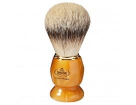 Brocha afeitar Omega tejón 1ª mango imitación marmol marron